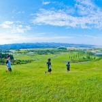 国営越後丘陵公園の青空と丘