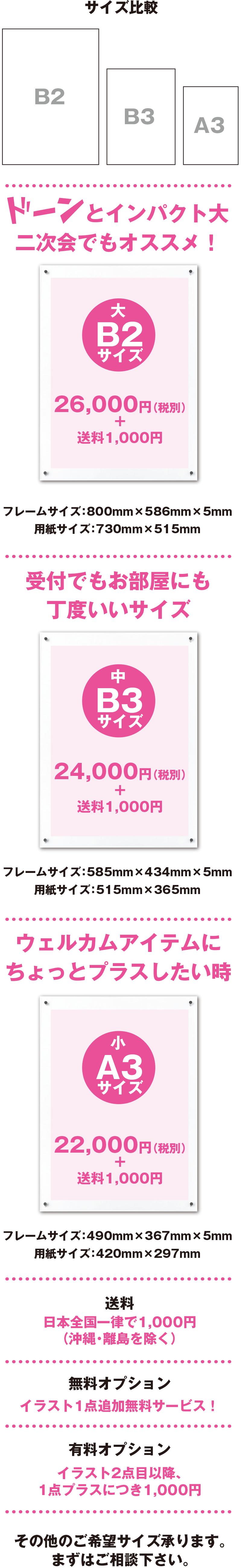 価格はA3サイズで22,000円〜