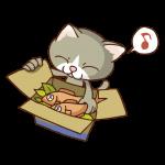 魚と猫のイラスト