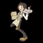レストラン店員(女性)のイラスト