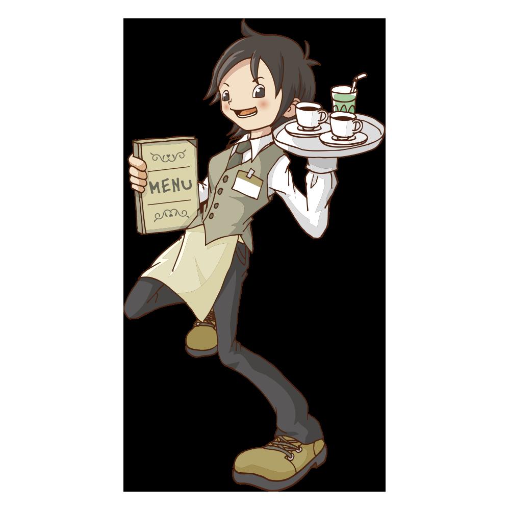 レストランカフェ店員のイラスト いらすとそーこ