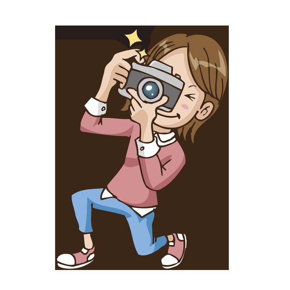 カメラ女子のイラスト いらすとそーこ