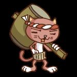 働く猫(大工)