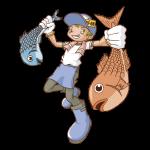 魚屋のイラスト(男性)