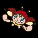 てんとう虫の妖精のイラスト
