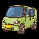 乗用車(ワンボックス)のイラスト