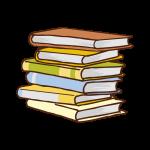 山積みの本のイラスト