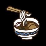 食べ物(うどん)のイラスト