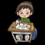 授業中のイラスト(男子)