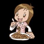 パスタを食べるイラスト