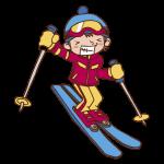 スキーをするイラスト