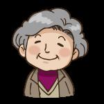 微笑むおばあさん