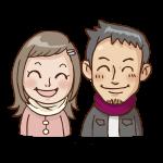 若い夫婦のイラスト