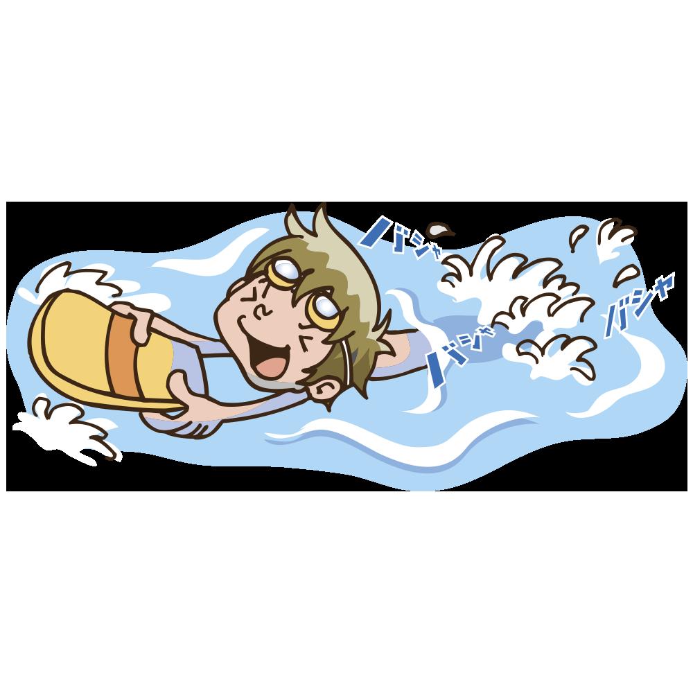 プールで泳ぐイラスト いらすとそーこ