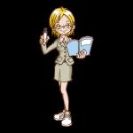 講師・先生のイラスト(女性2)