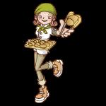 パン屋のイラスト(女性)