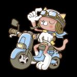 バイクに乗る猫のイラスト