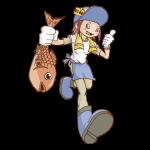 魚屋のイラスト(女性)
