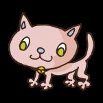 ピンクの猫のイラスト