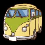 乗用車(ミニバス)のイラスト