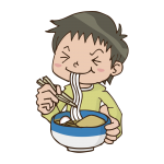 うどんを食べるイラスト