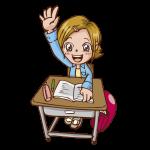 授業中のイラスト(女子)