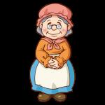 赤ずきんのおばあちゃんのイラスト