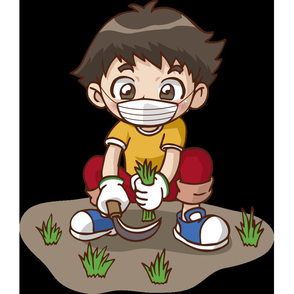 草刈りのイラスト3
